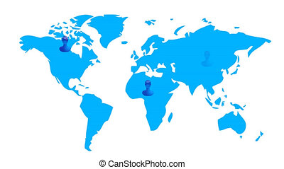 World map with social friends