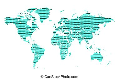 World map with stars. Vector