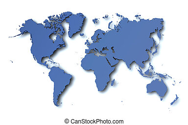 World Map - World map in 3d