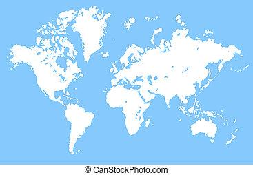 World Map 2d Art