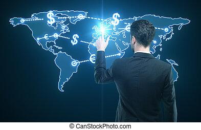 money transfer - world money transfer concept