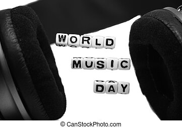 World Music Day Blocks and Letters