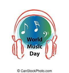World Music Day logo.