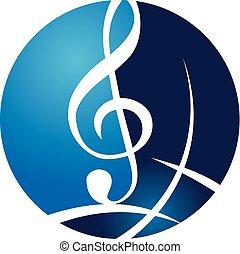 World Music Logo Design Template Vector