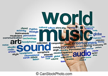 World music word cloud