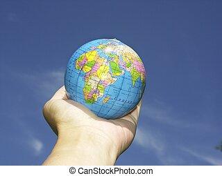world n hand
