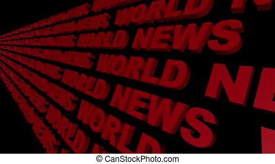 World News Looping Text Angle Four