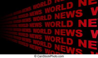 World News Looping Text Angle One