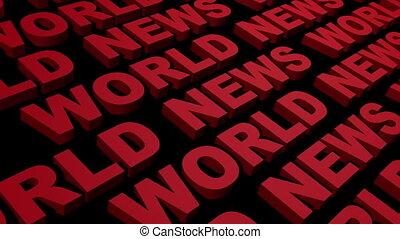 World News Looping Text Angle Three