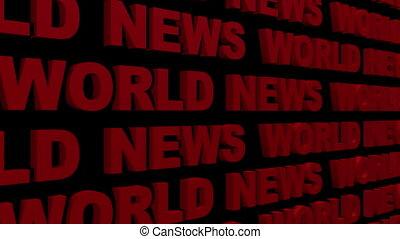 World News Looping Text Angle Two