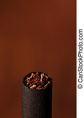 World No Tobacco Day and tobacco on white background
