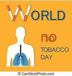 World No Tobacco Day Colorful Vector Illustration