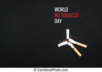 World No Tobacco Day. May 31st No Smoking Day. Poison of...