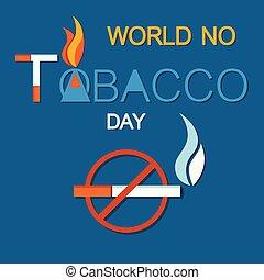World No Tobacco Day, No Smoking Crossed Cigarette