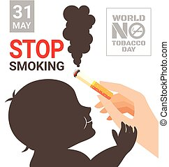 World No Tobacco Day poster for stop smoking