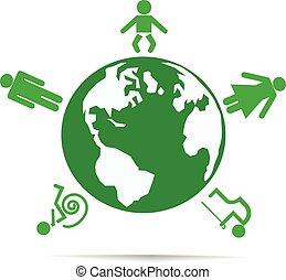 World of people.Vector illustration