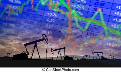 World oil price concept - The collapse of the market and the...