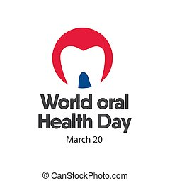 World Oral Health Day Logo Vector Template Design Illustration