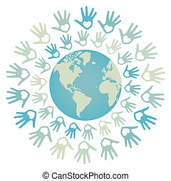 World peace and unity design. - Colorful world peace and...