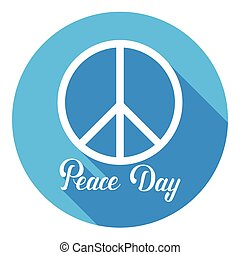 World Peace Day Hippie Sign International Holiday Poster