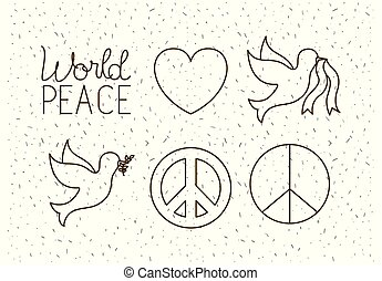 world peace set icons