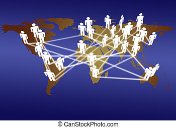 World people connect network media communication - Across...