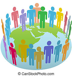 World people group meet on Earth Eastern globe