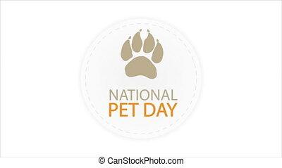 World pet day sticker, art video illustration.