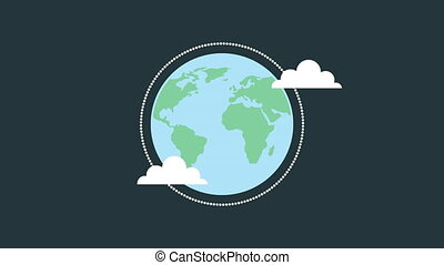 world planet earth 4k animation