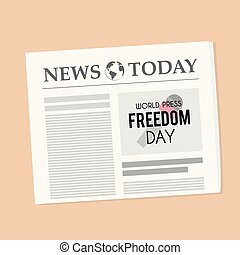 World Press Freedom Day Newspaper Banner - World Press...