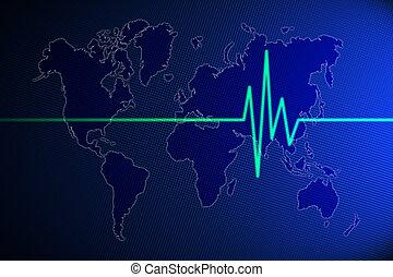 World pulse illustration