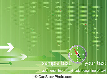 World quick messages, the concept. Abstract world map with arrows.Vector.