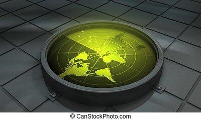 World radar - Concept animation, world radar.