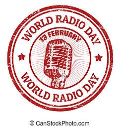 World Radio Day stamp