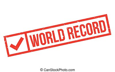 World Record rubber stamp