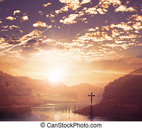World Religion Day Concept: Cross of christ jesus - World...