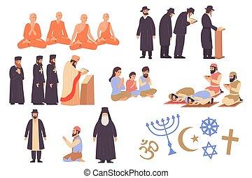 World Religion Icons Set