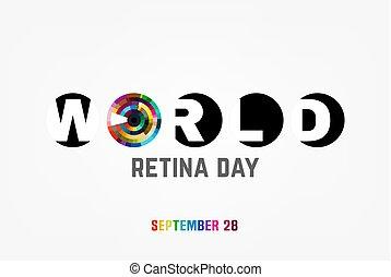 World retina day - September 28 - world retina day. Logotype...
