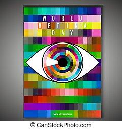 World retina day - September 28 - world retina day. Vertical...