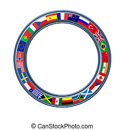 World Ring Of Global Flags Frame