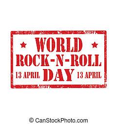 World Rock-N-Roll Day-stamp