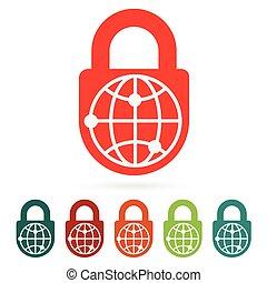 World safety web icon