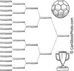 World soccer playoff bracket - Blank international soccer...