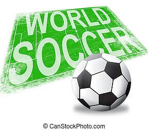 World Soccer Shows International Football 3d Illustration