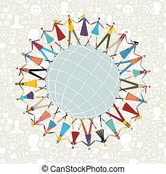 World social media network around the world