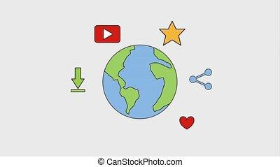 world social media network - world earth social media...