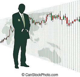 World stock exchange market 4 - Business people business men...