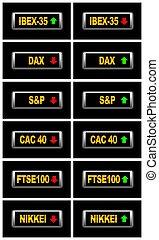 World stock markets.