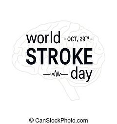 World stroke day vector concept