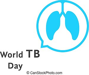 world tb day with blue speech bubble